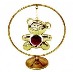 Мишка в кольце 7x8 см. (красный)