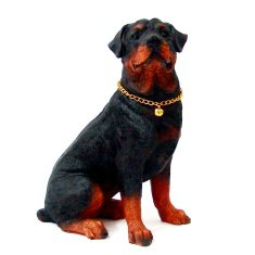 Собака 20 см.  Ротвейлер (полистоун)