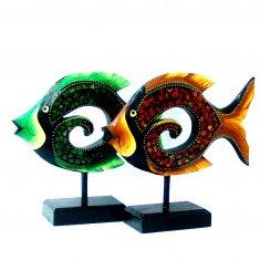 Рыба 30 см. (цвета в ассорт.) (дерево,  стекло)