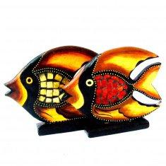 Рыба l=12 см. (цвета в ассорт.) (дерево, стекло)