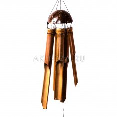 Музыка ветра Кокос 60 см.  (бамбук, кокос) больш.