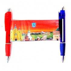 Ручка-шпаргалка Н.Новгород 20 см. (цвета в ассорт.)(кор. 500 шт.)