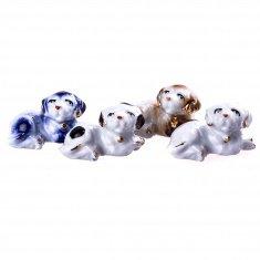 Собака h=3 см (цвет в ассорт.) (фарфор)