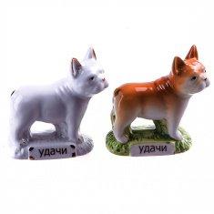 Собака Бульдог h=8 см. (в ассорт.) (фарфор) (кор. 96 шт.)