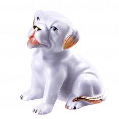 Собака белая h=9 см. (фарфор) (кор. 144 шт.)