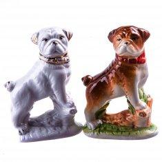 Собака Бульдог h=12 см. (в ассорт.) (фарфор) (кор. 72 шт.)