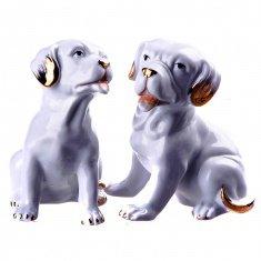 Собака белая h=13 см. (в ассорт.) (фарфор) (кор. 48 шт.)
