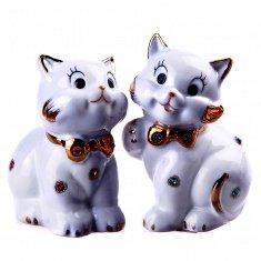 Кошка белая h=10 см. (в ассорт.) (фарфор) (кор. 96 шт.)