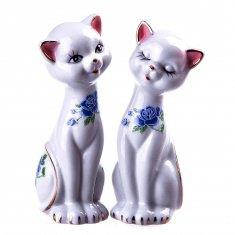 Кошки h=13 см. (набор 2 шт.) (фарфор) (кор. 96 наб.)
