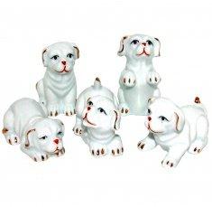 Собаки 6 см (набор 5 шт.) (фарфор)