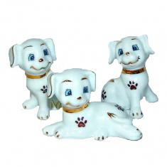 Собаки (набор 3 шт.) 6; 6; 5 см. (кор. 96 наб.) (фарфор)