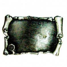Магнит-свиток 7x4,5 см. (фольга серебро) (уп. 12  шт.) заготовка