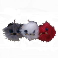 Брелок Котенок 11 см (цвета в ассорт.) (мех) (кор. 480 шт.)