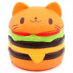Сквиши-игрушка-антистресс Кот гамбургер