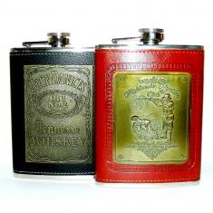 Фляга 8 oz кожа Whiskey (кор. 100 шт.)