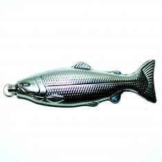 Фляга 8 oz Рыба l=22 см. (серебро) (уп. 10 шт.)