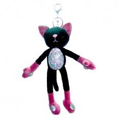 Брелок Кот со стразами