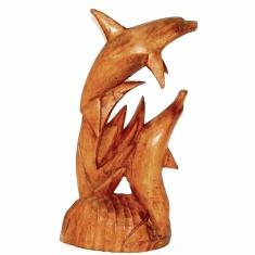 Статуэтка Дельфины h=30 см. (дерево суар)