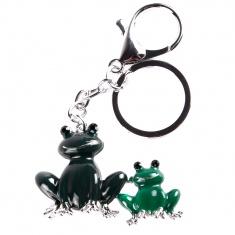 Брелок со стразами Две лягушки