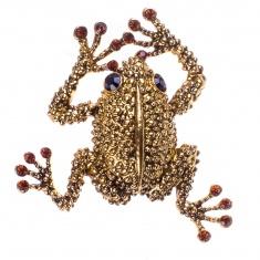Магнит со стразами Лягушка (цвет-бронза) (в уп.12 шт.)