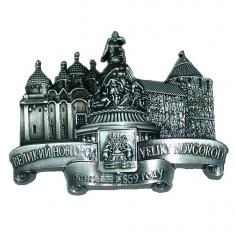 Магнит-стразы 6x8 см. В.Новгород-2 в 1 (серебро)