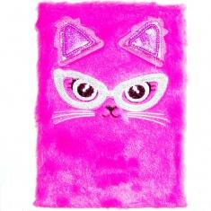 Блокнот детский Кошка с мехом