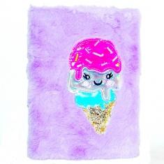 Блокнот детский Мороженое с мехом
