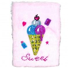 Блокнот детский Мороженое с мехом Sweet