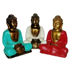 Статуэтка Будда (цветной полистоун)