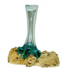 Декоративная ваза на корне тика
