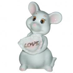 Фигурка Мышь с сердцем