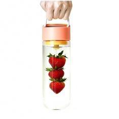 Бутылка для воды и фруктов Bra Free Fruit Skewer Bottle Персиковая