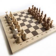 Шахматы обиходные парафинированные