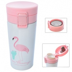 Термокружка Фламинго