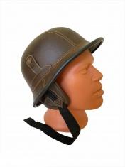 Шлем Мотоциклетный коричневый (с очками)