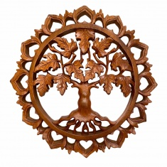 Панно Древо Клен (в резном круге) 30 см (дерево суар) 01-30-AR