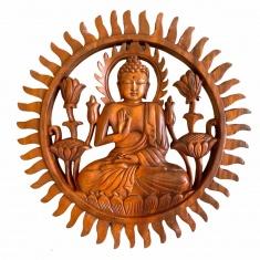 Панно 30 см. Будда (дерево суар)