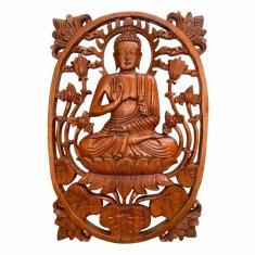 Панно Будда ( овальное ) 40х28 см (дерево суар) 11-40- AR