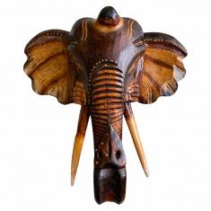 Голова слона (коричневая классика) ( дерево)
