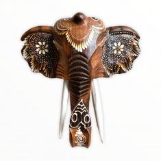 Голова слона 25 см. (светло-коричневая) (дерево)