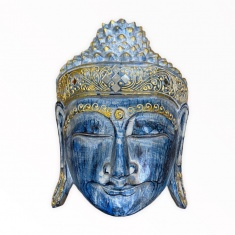 Маска 30 см. Голова Будды  (синяя)
