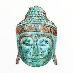 Маска 30 см. Голова Будды (зеленая)