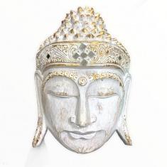 Маска 30 см. Голова Будды (белая )
