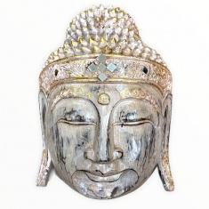 Маска 30 см. Голова Будды (бежевая)