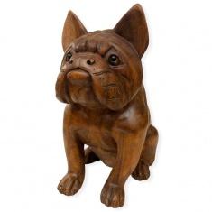 статуэтка собака французский бульдог (дерево)
