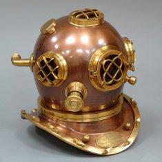 шлем водолазный 42 см. коричневый