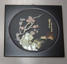 """Картина """"Сакура"""" 30х30 см. (нефрит)"""