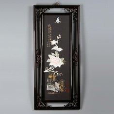 """Картина """"Пион"""" 40х90 см. (нефрит)"""